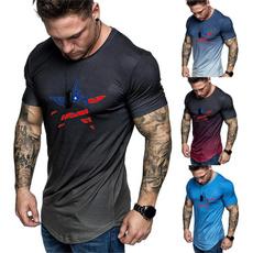 gradientcolor, Mens T Shirt, Plus Size, Necks
