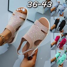 Flats, Sandals, Ladies Fashion, Summer
