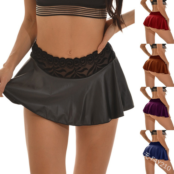 Mini, skirtshort, ruffle, Lace
