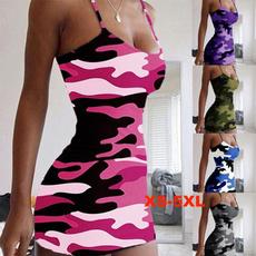 off the shoulder dress, Mini, camouflageskirt, Fashion