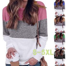 blouse, blockcolorshirtsforwomen, shirtsforwomenplussize, Women's Casual Tops