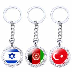 Key Chain, national, Key Rings, Rhinestone