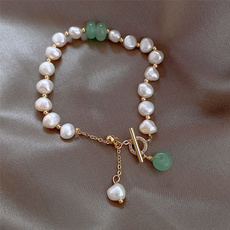 Fashion, Jewelry, irregularbracelet, pearls