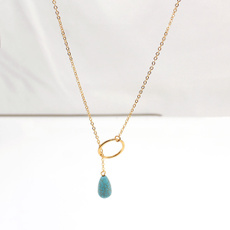 Turquoise, short necklace, Jewelry, Gifts