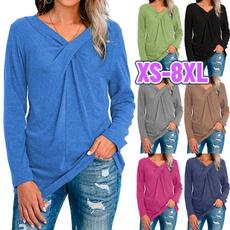 Tops & Tees, Plus Size, Long Sleeve, pullover sweatshirt