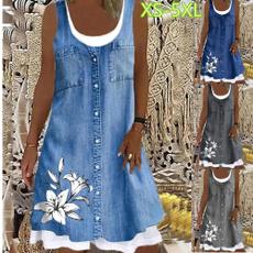 Summer, dressesforwomen, women dresses, Denim