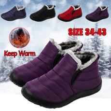 ankle boots, antiskid, Plus Size, fur
