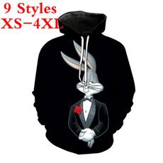 3D hoodies, Fashion, bugsbunny, Coat