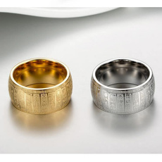 Steel, golden, Fashion, wedding ring