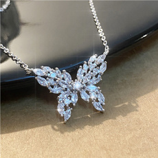 butterfly, White Gold, 14k white, gold