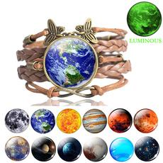 Charm Bracelet, brown, solarsystem, Jewelry