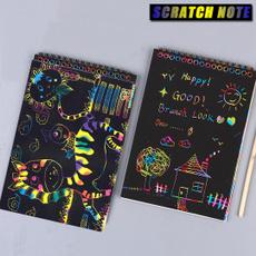 graffitiboardpreschooltool, Colorful, scratchnotesset, Handmade
