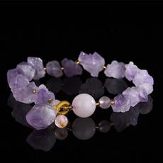 lavenderamethyst, Women, roughamethyst, crystalirregulargem