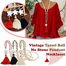 longpendantnecklace, Star, Chain, women necklace