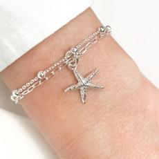 Sterling, Charm Bracelet, planebracelet, sterling silver