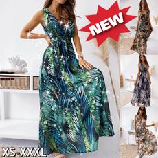 Plus Size, long dress, Dress, beach dress
