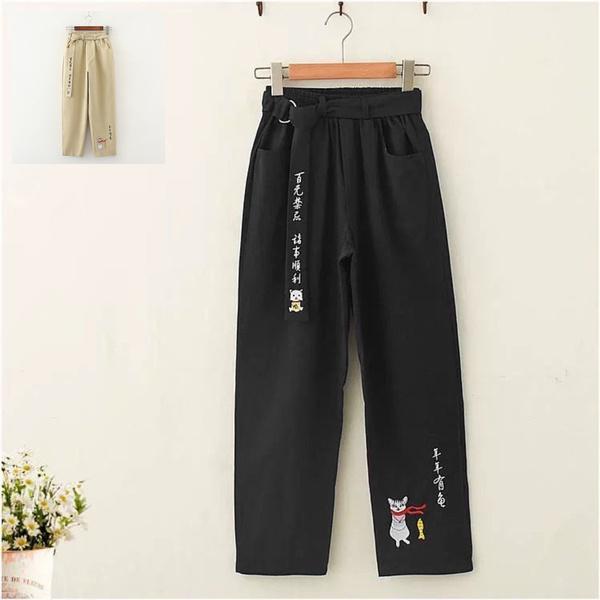 cute, Goth, trousers, beltpant