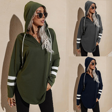 armygreen, Women's Casual Tops, 2021new, Long sleeved