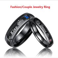 Couple Rings, Steel, Fashion, Jewelry