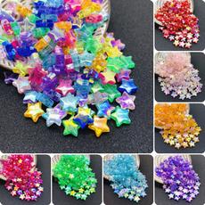 rainbow, acrylicbead, spacebead, Star