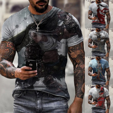 Fashion, Sleeve, Round Collar, short sleeves