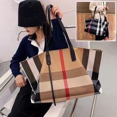 largecapacityhandbag, Shoulder Bags, plaid, Capacity