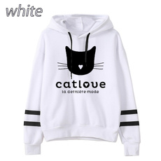 women pullover, cute, Plus Size, hooded