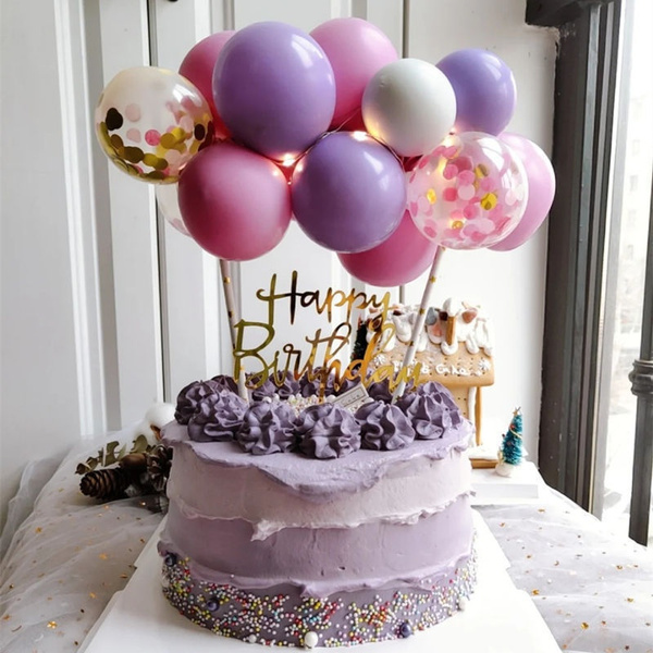 Shower, ballooncaketopper, birthdaycake, caketopper