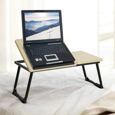 wooddesk, Wood, laptoptable, Laptop