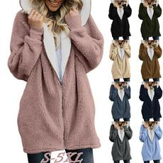 hooded, velvet, women coat, winterjacketwomen