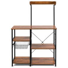 brown, sideboard, cupboard, Vintage