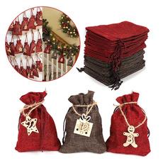 Christmas, calendarcountdown, Gift Bags, Wooden