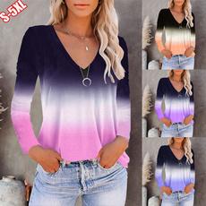 gradientcolor, blouse, Plus size top, Tops & Blouses