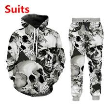 3d sweatshirt men, Fashion, skull, 3dprintedskullsuit