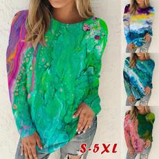 women pullover, cottonshirtsforwomen, Long Sleeve, printed shirts