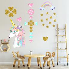 PVC wall stickers, rainbow, stickersmural, Star