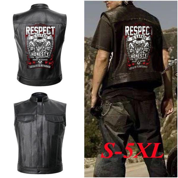 motorcyclevestleather, Vest, Fashion, skull