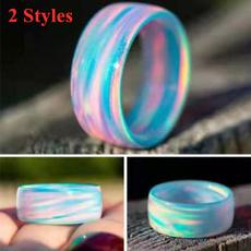 Couple Rings, rainbow, Jewelry, glitterring
