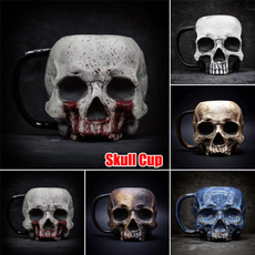 Decorative, water, Head, skull