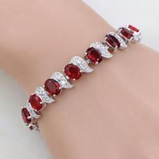 Sterling, Charm Bracelet, DIAMOND, white topaz