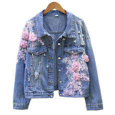 Blues, Jacket, Flowers, Sleeve