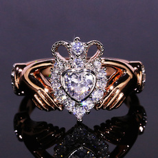 heart ring, Love, wedding ring, gold