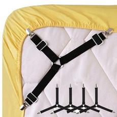 Triangles, bedsheetgripstrap, suspender belt, Beds