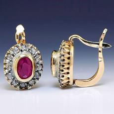 Fashion, moissanite earrings, gold, whitesapphireearring