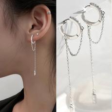 Sterling, DIAMOND, moissanite earrings, whitesapphireearring