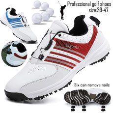 spikesgolfshoe, Flats shoes, Waterproof, leather