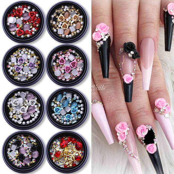 Box, acrylic nails, Fashion, art