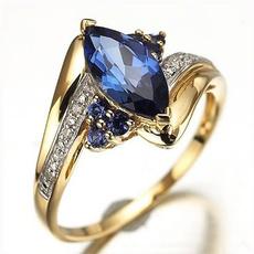 Blues, yellow gold, Fashion, Jewelry