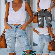 rippedhole, Summer, Shorts, Fashion