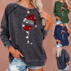 Fashion, Winter, halloweentop, Long Sleeve
